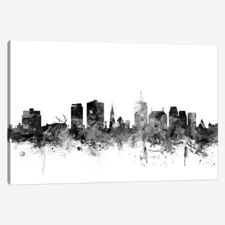Christchurch, New Zealand In Black & White Canvas Print #MTO774} by Michael Tompsett Canvas Art