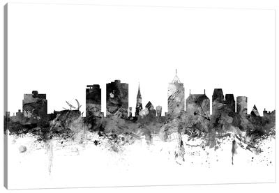 Christchurch, New Zealand In Black & White Canvas Art Print