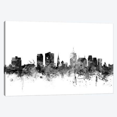 Christchurch, New Zealand In Black & White Canvas Print #MTO774} by Michael Tompsett Canvas Art