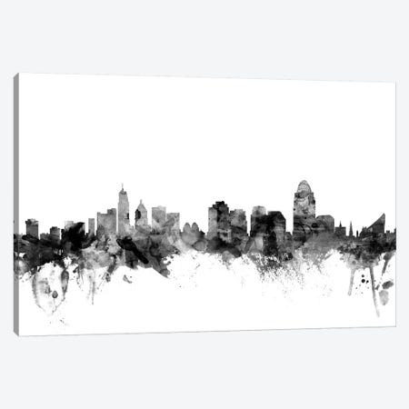 Cincinnati, Ohio In Black & White Canvas Print #MTO775} by Michael Tompsett Canvas Art