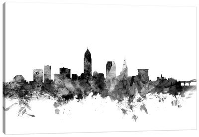 Cleveland, Ohio In Black & White Canvas Art Print