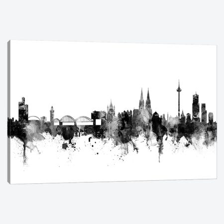 Cologne, Germany In Black & White Canvas Print #MTO777} by Michael Tompsett Canvas Artwork