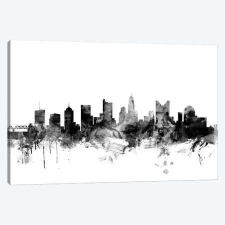 Columbus, Ohio In Black & White Canvas Print #MTO778} by Michael Tompsett Canvas Art Print