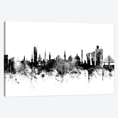 Copenhagen, Denmark In Black & White Canvas Print #MTO779} by Michael Tompsett Canvas Art Print
