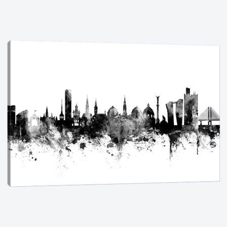 Copenhagen, Denmark In Black & White Canvas Print #MTO779} by Michael Tompsett Canvas Art Print