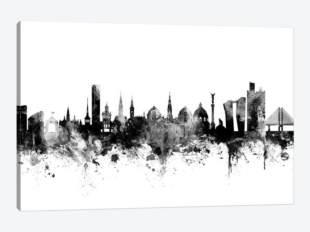 Copenhagen, Denmark In Black & White by Michael Tompsett 1-piece Canvas Wall Art