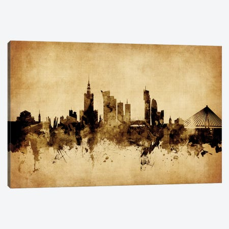 Warsaw, Poland Canvas Print #MTO77} by Michael Tompsett Art Print