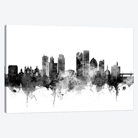 Dayton, Ohio In Black & White Canvas Print #MTO783} by Michael Tompsett Canvas Artwork