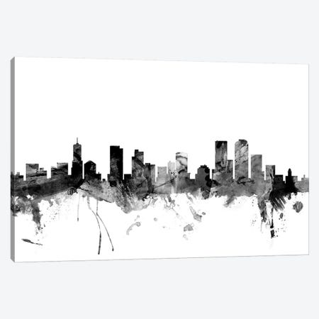 Denver, Colorado In Black & White Canvas Print #MTO784} by Michael Tompsett Canvas Print