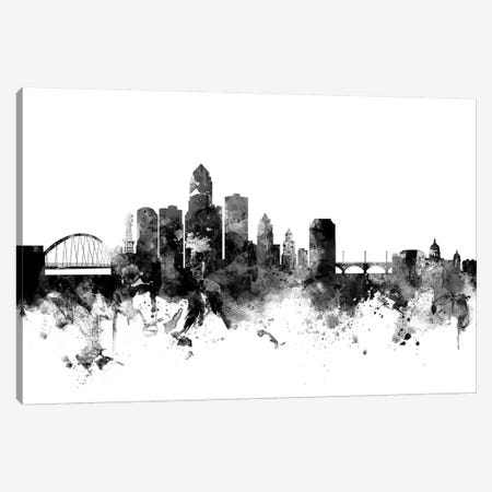 Des Moines, Iowa In Black & White Canvas Print #MTO786} by Michael Tompsett Canvas Print
