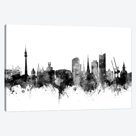 Dortmund, Germany In Black & White Canvas Print #MTO788} by Michael Tompsett Canvas Art