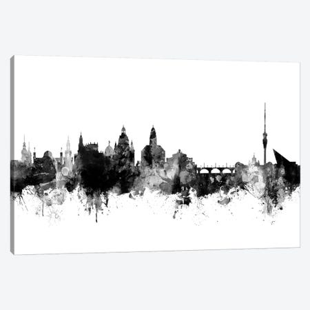 Dresden, Germany In Black & White Canvas Print #MTO789} by Michael Tompsett Canvas Art
