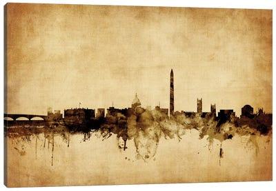 Foxed (Retro) Skyline Series: Washington, D.C., USA Canvas Print #MTO78