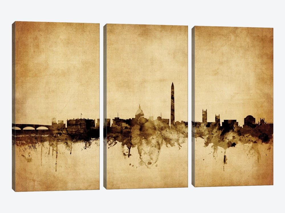 Washington, D.C., USA by Michael Tompsett 3-piece Canvas Artwork