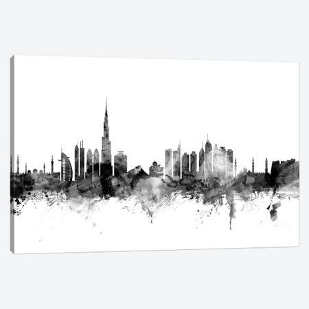 Dubai, UAE In Black & White 3-Piece Canvas #MTO790} by Michael Tompsett Art Print