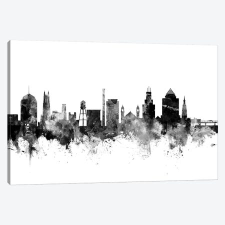 Durham, North Carolina In Black & White Canvas Print #MTO793} by Michael Tompsett Art Print