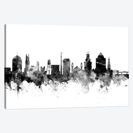 Durham, North Carolina In Black & White Canvas Print #MTO793} by Michael Tompsett Art Print