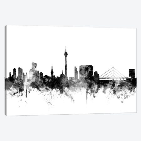 Düsseldorf, Germany In Black & White Canvas Print #MTO794} by Michael Tompsett Canvas Wall Art