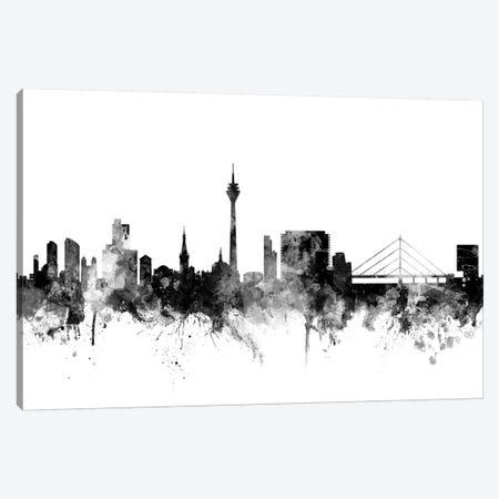 Düsseldorf, Germany In Black & White Canvas Print #MTO794} by Michael Tompsett Canvas Wall Art