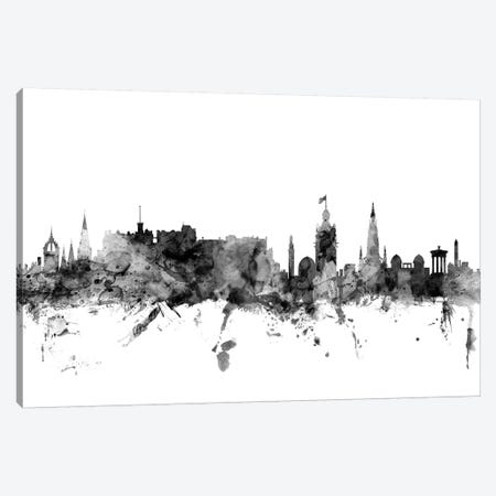Edinburgh, Scotland In Black & White Canvas Print #MTO795} by Michael Tompsett Canvas Wall Art