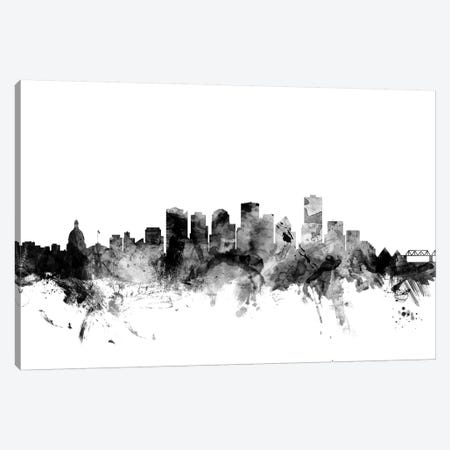Edmonton, Canada In Black & White Canvas Print #MTO796} by Michael Tompsett Canvas Art
