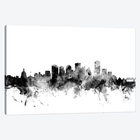 Edmonton, Canada In Black & White Canvas Print #MTO796} by Michael Tompsett Canvas Art