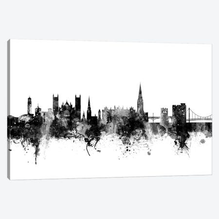 Exeter, England In Black & White Canvas Print #MTO799} by Michael Tompsett Canvas Art Print