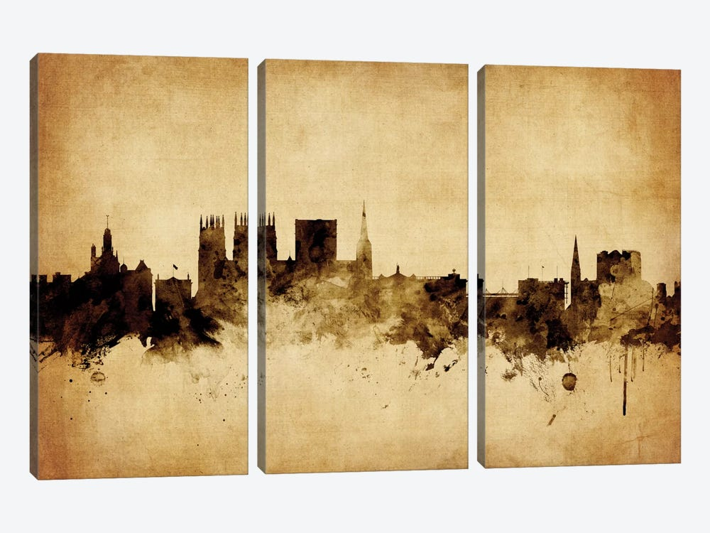 York, England, United Kingdom by Michael Tompsett 3-piece Art Print
