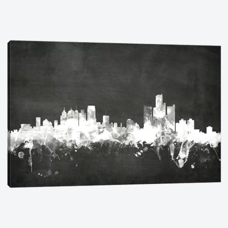 Detroit, Michigan, USA Canvas Print #MTO7} by Michael Tompsett Canvas Wall Art