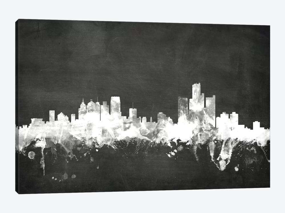 Detroit, Michigan, USA by Michael Tompsett 1-piece Canvas Art