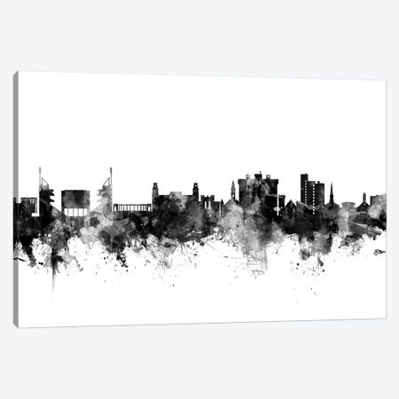 Fayetteville, Arkansas In Black & White 3-Piece Canvas #MTO800} by Michael Tompsett Canvas Print