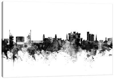 Fayetteville, Arkansas In Black & White Canvas Art Print