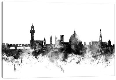 Florence, Italy In Black & White Canvas Art Print