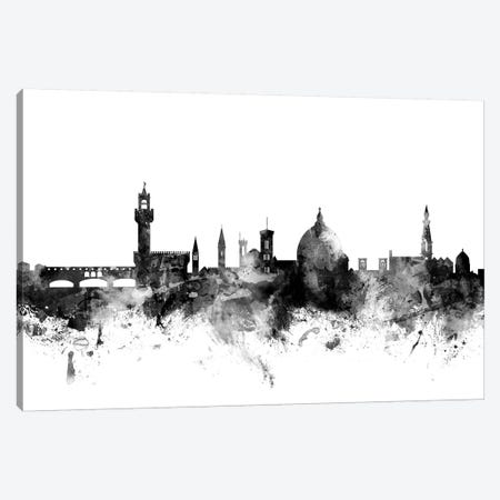 Florence, Italy In Black & White Canvas Print #MTO801} by Michael Tompsett Canvas Print