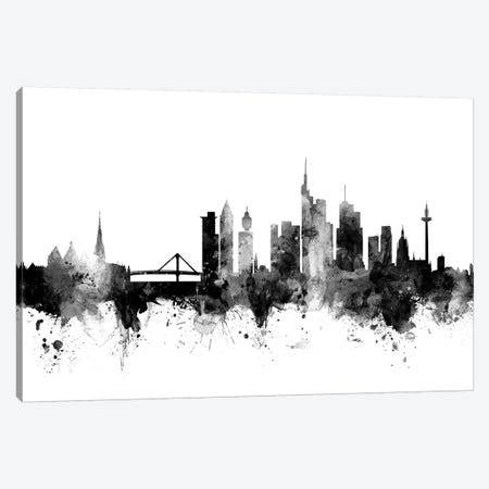 Frankfurt, Germany In Black & White Canvas Print #MTO803} by Michael Tompsett Art Print