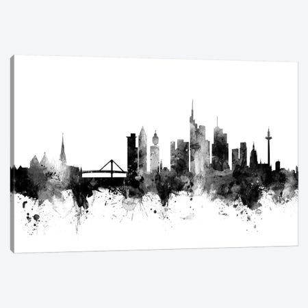 Frankfurt, Germany In Black & White Canvas Print #MTO803} by Michael Tompsett Art Print