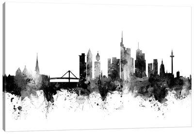 Frankfurt, Germany In Black & White Canvas Art Print