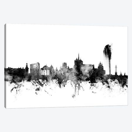Geneva, Switzerland In Black & White Canvas Print #MTO807} by Michael Tompsett Canvas Wall Art