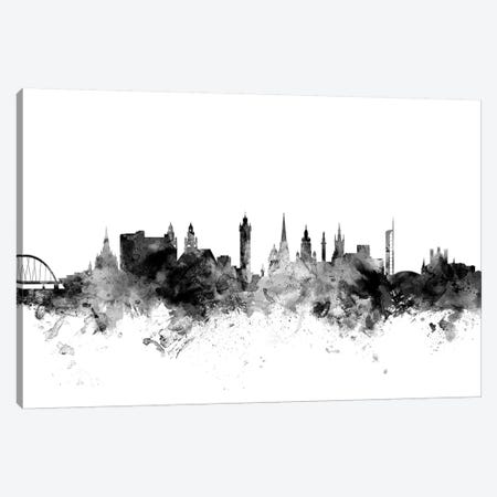Glasgow, Scotland In Black & White Canvas Print #MTO808} by Michael Tompsett Canvas Art Print