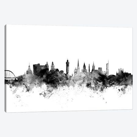 Glasgow, Scotland In Black & White Canvas Print #MTO808} by Michael Tompsett Canvas Art Print