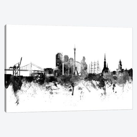 Gothenburg, Sweden In Black & White Canvas Print #MTO809} by Michael Tompsett Art Print