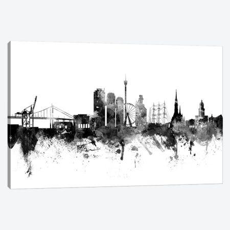 Gothenburg, Sweden In Black & White Canvas Print #MTO809} by Michael Tompsett Art Print