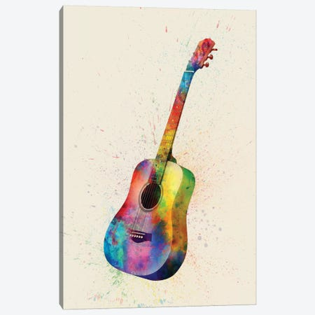 Acoustic Guitar Canvas Print #MTO80} by Michael Tompsett Canvas Print