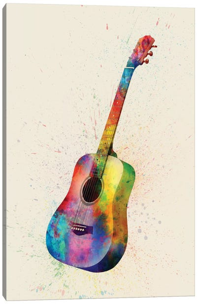 Musical Instrument Series: Acoustic Guitar Canvas Print #MTO80