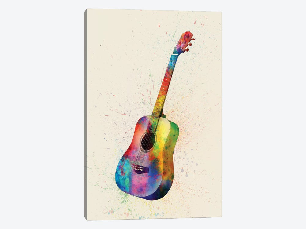 Musical Instrument Series: Acoustic Guitar by Michael Tompsett 1-piece Canvas Print