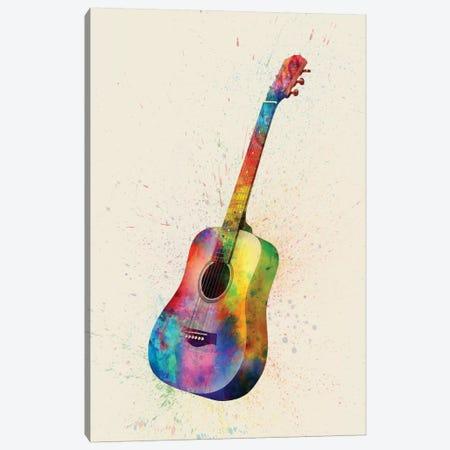 Acoustic Guitar Canvas Print #MTO80} by Michael Tompsett Canvas Print