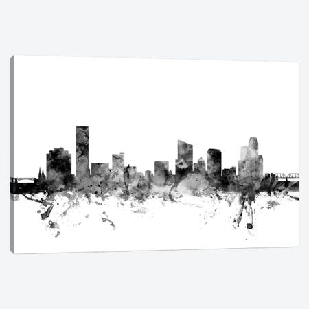 Grand Rapids, Michigan In Black & White Canvas Print #MTO810} by Michael Tompsett Canvas Art