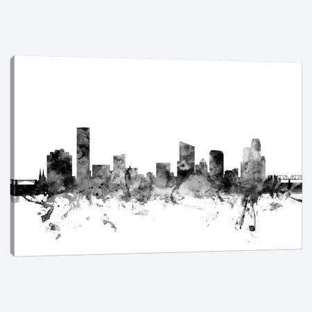 Grand Rapids, Michigan In Black & White Canvas Print #MTO810} by Michael Tompsett Canvas Art