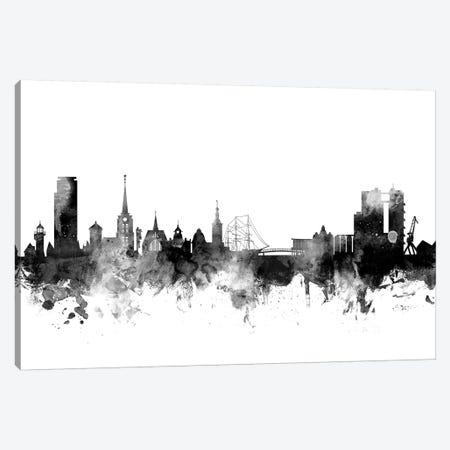 Halmstad, Sweden In Black & White Canvas Print #MTO811} by Michael Tompsett Canvas Art