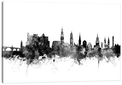 Heidelberg, Germany In Black & White Canvas Art Print